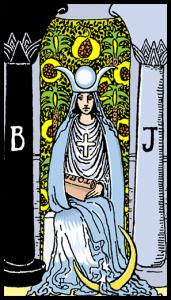 la sacerdotista carta tarot