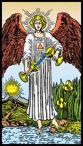 carta la templanza tarot