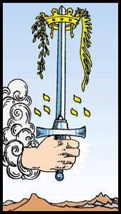 carta as de espadas tarot