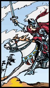 carta caballo de espadas tarot