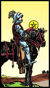 carta caballo de oros tarot