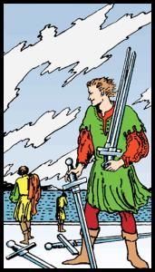 carta cinco de espadas tarot