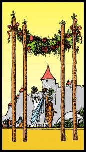 carta cuatro bastos tarot
