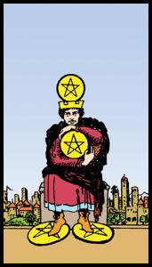 carta cuatro de oros tarot