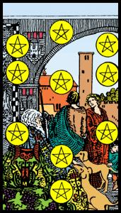 carta diez de oros tarot