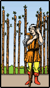 carta nueve bastos tarot
