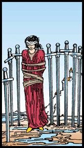 carta ocho de espadas tarot
