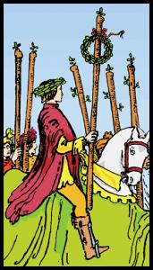 carta seis bastos tarot