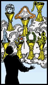 carta siete de copas tarot