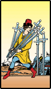 carta siete de espadas tarot