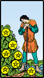 carta siete de oros tarot